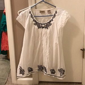 Short sleeve all cotton blouse